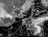 ひまわり7号可視画像・天気図合成 2014年9月27日12時JST
