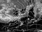 ひまわり7号可視画像・天気図合成 2014年9月30日12時JST