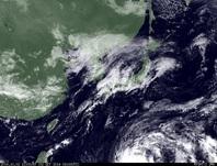ひまわり7号可視画像 2014年10月2日12時JST
