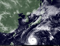 ひまわり7号可視画像 2014年10月3日12時JST