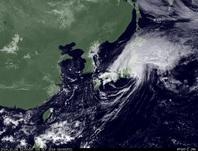 ひまわり7号可視画像 2014年10月6日12時JST