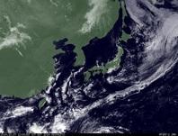 ひまわり7号可視画像 2014年10月7日12時JST