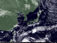 ひまわり7号可視画像 2014年10月8日12時JST