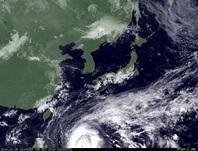 ひまわり7号可視画像 2014年10月9日12時JST