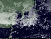 ひまわり7号可視画像 2014年11月1日12時JST