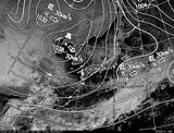ひまわり7号可視画像・天気図合成 2014年12月9日12時JST