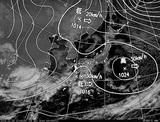 ひまわり7号可視画像・天気図合成 2014年12月29日12時JST