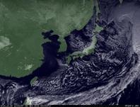 ひまわり7号可視画像 2014年12月30日12時JST