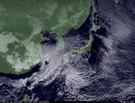 ひまわり7号可視画像 2015年1月14日12時JST