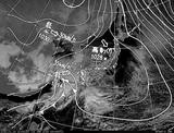 ひまわり7号可視画像・天気図合成 2015年1月14日12時JST
