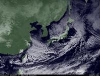 ひまわり7号可視画像 2015年1月17日12時JST
