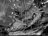 ひまわり7号可視画像・天気図合成 2015年1月17日12時JST