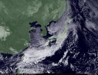 ひまわり7号可視画像 2015年2月8日12時JST