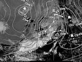 ひまわり7号可視画像・天気図合成 2015年2月8日12時JST