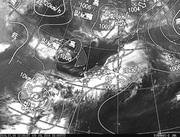 ひまわり8号赤外線画像&天気図合成 2016年7月9日12時JST