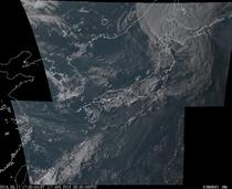 ひまわり8号可視画像 2016年8月17日17時30分JST