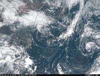 ひまわり8号可視画像 2016年8月18日12時JST