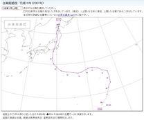 台風経路図 平成19年台風第9号